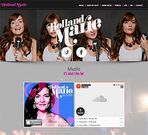 Holland Marie - Nashville, TN - Site Design - Ecommerce - Responsive - One Page